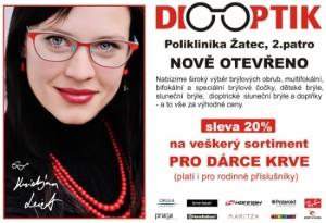 Diooptik Žatec - sleva 20% pro dárce krve
