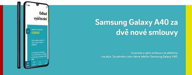 Energetická Návratnost - telefon Samsung Galaxy A40 za dvě nové smlouvy